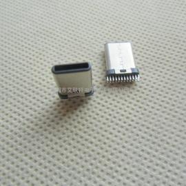 180度插板式type-c公头(立式插板/24P立插)板端type-c公头