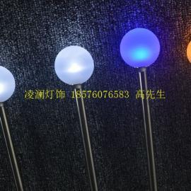 景观雕塑芦苇灯高低错落喷泉景观灯防水芦苇灯RGB同步灯光效果