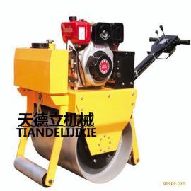 600型手扶式单轮柴油压路机 压沥青用压路机 草坪压路机