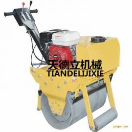 600本田汽油单轮压路机 地面砂土压实机 沟槽压实压路机