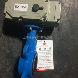 SD971XX-10电动调节阀_对夹式电动蝶阀