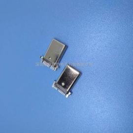 板端type-c公头:沉板type-c贴片公头 单排9P SMT 【高导铜端子】
