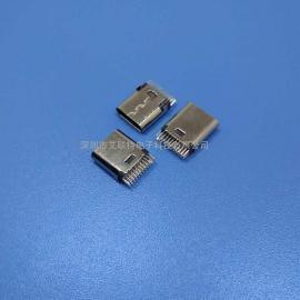 type-c夹板母座【夹距0.8】180度24p针/HUP专用type-c母座