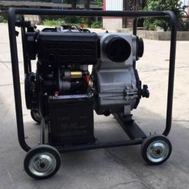 电启动4寸柴油抽泥泵价格