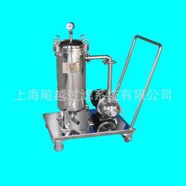 上海供应滤油机 不锈钢移动小车过滤器 不锈钢小车过滤器
