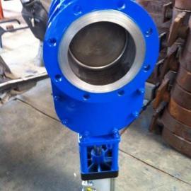 Z674Y-10C高温耐磨气动出料阀 气动双闸板阀