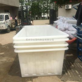 杭州K1500L方形塑料方箱周转桶布草车推布车厂家直销