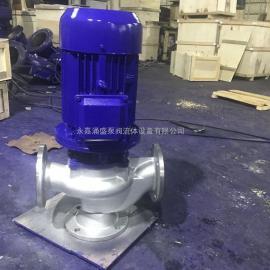 GW管道式排污泵无堵塞排污泵管道排污水泵 65GWP27-15-3KW