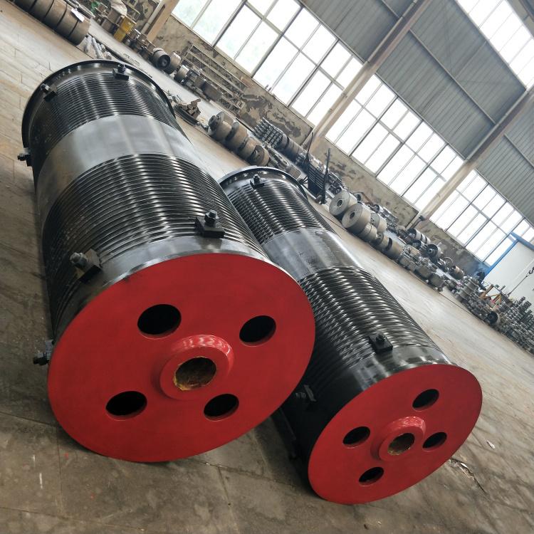 行车齿轮联轴器卷筒组 直径300卷筒内部结构图 定做超大吨位滚筒