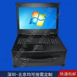 17寸4U工业便携机机箱加固机箱军工电脑笔记本一体机视频采集