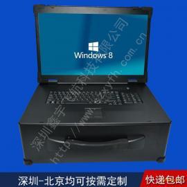 21寸新款4U工业笔记本电脑外壳军工加固一体机工业便携机机箱