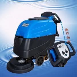 汽车配件车间地面保洁使用手推式擦地机