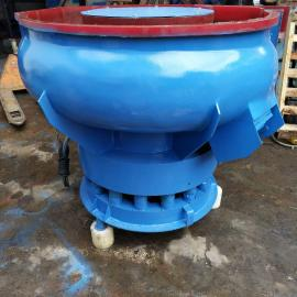 五金打磨振光机 去水口震动式研磨机150L螺旋式自动震动研磨机