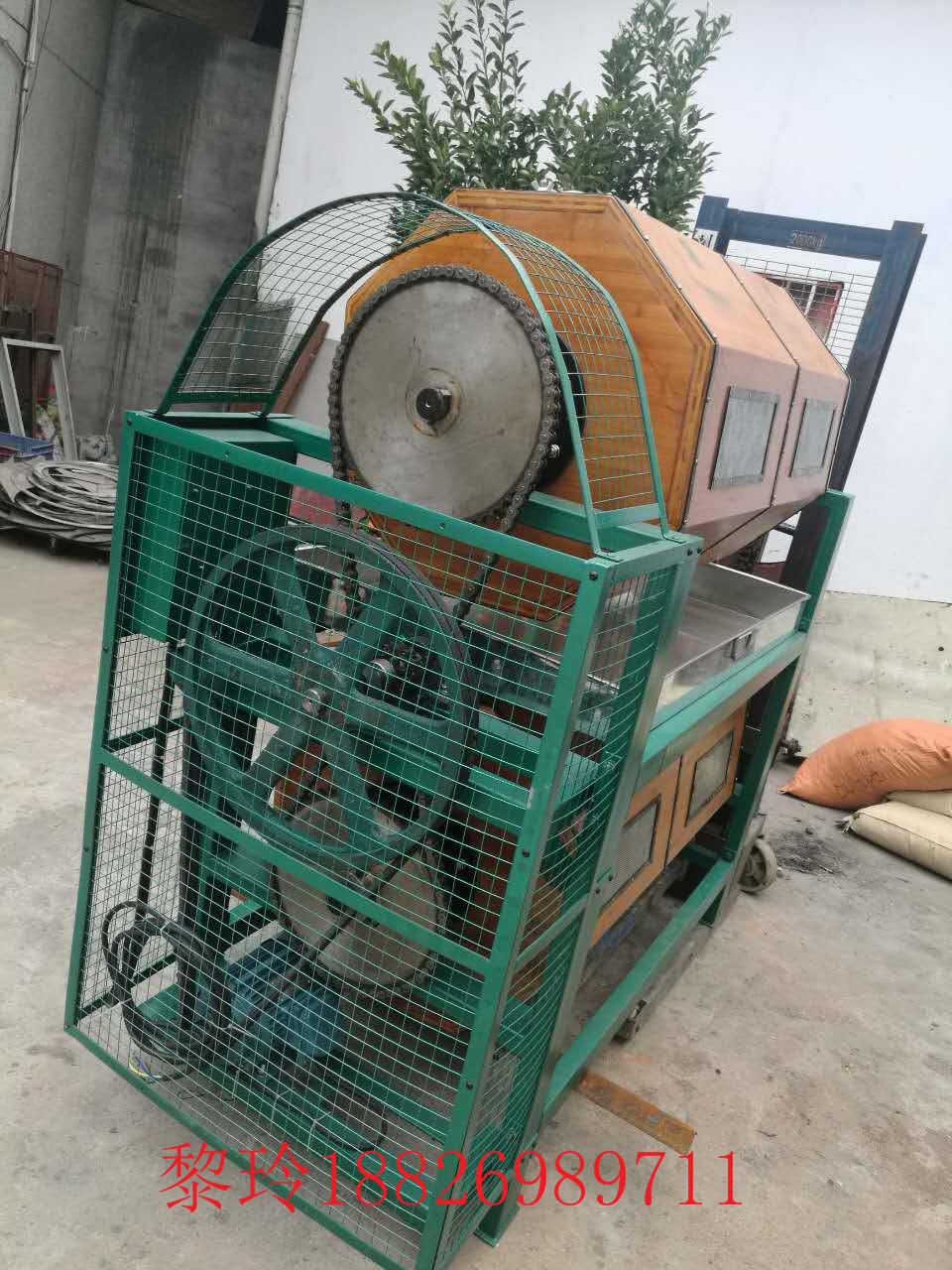干式滚筒研磨机的主要结构