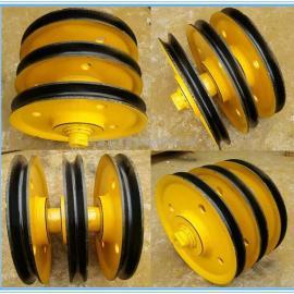 铸钢滑轮 热轧滑轮 导绳轮 滑轮片 10t起重机滑轮组 可定做
