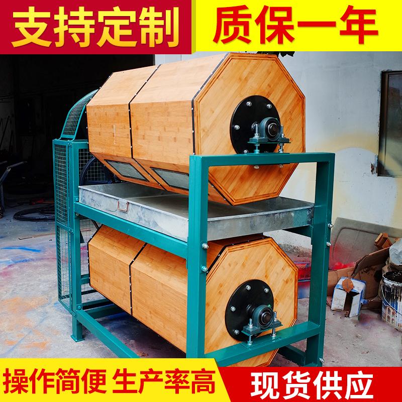 干抛机镜面效果干滚机600L干式竹制滚筒镜面效果研磨机滚光机