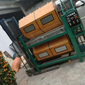 五金配件干式滚抛机 大容量双层600L干式竹制滚筒镜面效果溜光机