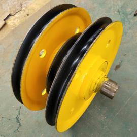起重轧制滑轮组20T φ470*138钢丝绳滑轮 行车吊钩滑车