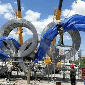 东莞原著雕塑厂家供应不锈钢奥运五环雕塑,广场景观雕塑摆件