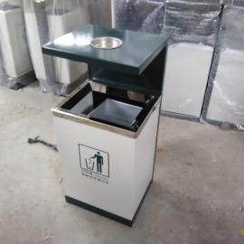 绵阳小区果皮箱直销 镀锌板单筒 钢板垃圾桶价格 青蓝定制生产