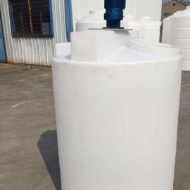 1.5吨PE加药箱 1.5立方塑料搅拌桶 1500L防腐计量桶 搅拌加药罐