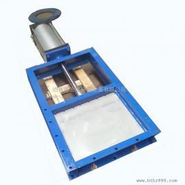 高温气动插板阀 圆型插板阀厂家 小型气动刀形闸阀现货或定制