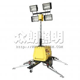 拖车式照明灯塔 液压式移动照明灯塔 大型高杆照明塔