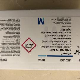 德国默克氨氮测试条1.10024.0001