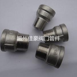 GB/T26120 304SS不锈钢内外丝直接 内外螺纹直通管箍转换接头