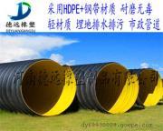 关林700排污钢带增强PE螺旋波纹管厂家