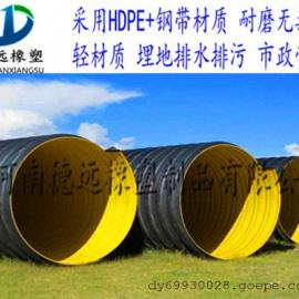 钢带PE波纹管 蔚氏排污水用管 钢带波纹管连接