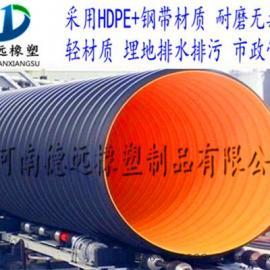 荥阳钢带管 钢带增强聚乙烯管 钢带波纹管厂家