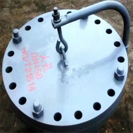 HG/T21524-2005 水平吊盖带颈平焊法兰人孔 DN500 Q235材质