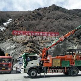 鑫通湿喷机械手团队攻坚西藏拉泽公路4600米高原作业