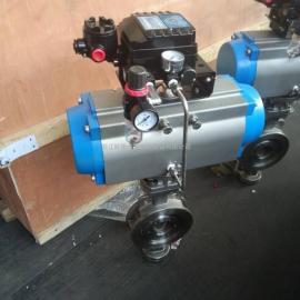 欧斯卡D673W-16P-DN150气动不锈钢硬密封蝶阀