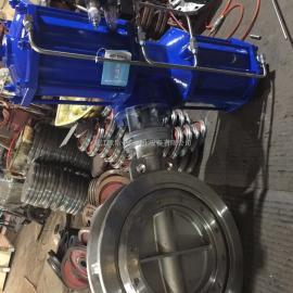 欧斯卡D673W-10P-DN500气动对夹硬密封蝶阀