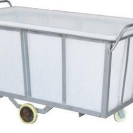 箱包服装电子厂专用塑料周转箱推布车 1500L方形塑胶水箱 易清洗