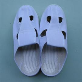 电子车间四孔静电工作鞋 白色帆布无尘防静电鞋厂家