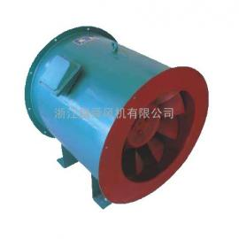 低噪声高效斜流管道送风机