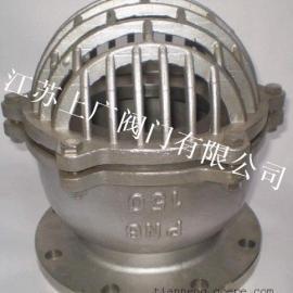 不锈钢法兰底阀H42W-16P