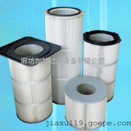 除尘滤芯,聚酯纤维除尘滤芯,覆膜防静电除尘滤芯