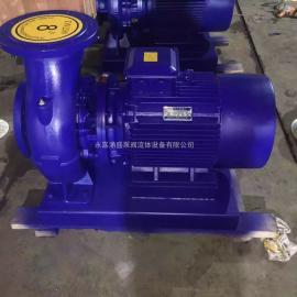 卧式管道离心泵空调清水泵增压管道泵ISWP50-200I-7.2KW流量25