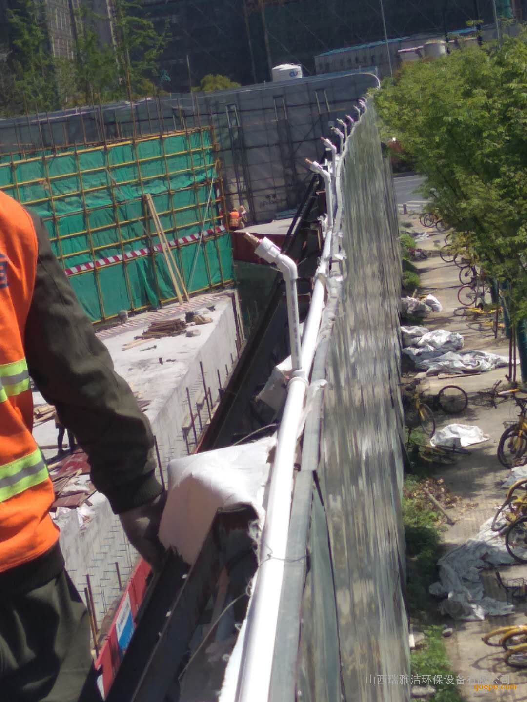 西安地铁工地围挡喷淋降尘多少钱一米围挡喷淋制作方案