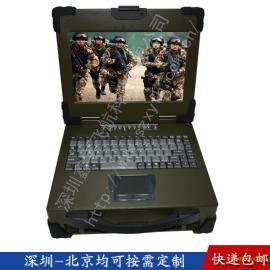 12寸3U工业便携机机箱定制加固军工铝笔记本电脑便携机一体机