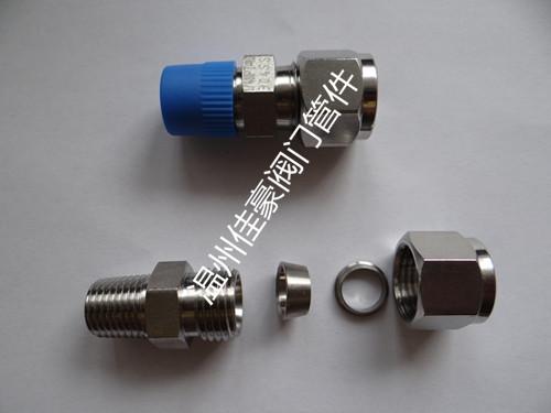 佳豪牌ZG1/4-FT8 304SS不锈钢卡套式直通螺纹终端管接头