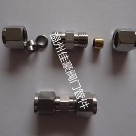 304不锈钢腰鼓式铜胀圈卡套式直通 直角弯通 三通终端中间管接头