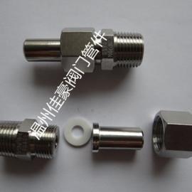 佳豪牌1/2NPT-M20*1.5/BW14*3不锈钢对焊式直通终端活接头