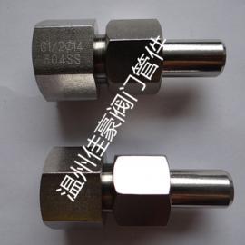 1/2NPT(F)-M20*1.5/14*3不锈钢内螺纹对焊接式直通终端活接头