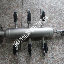 佳豪牌KFQ-II-8 304SS不锈钢气源分配器 气源气路分支分流器
