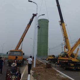 地埋式预制泵站集成式玻璃钢制造